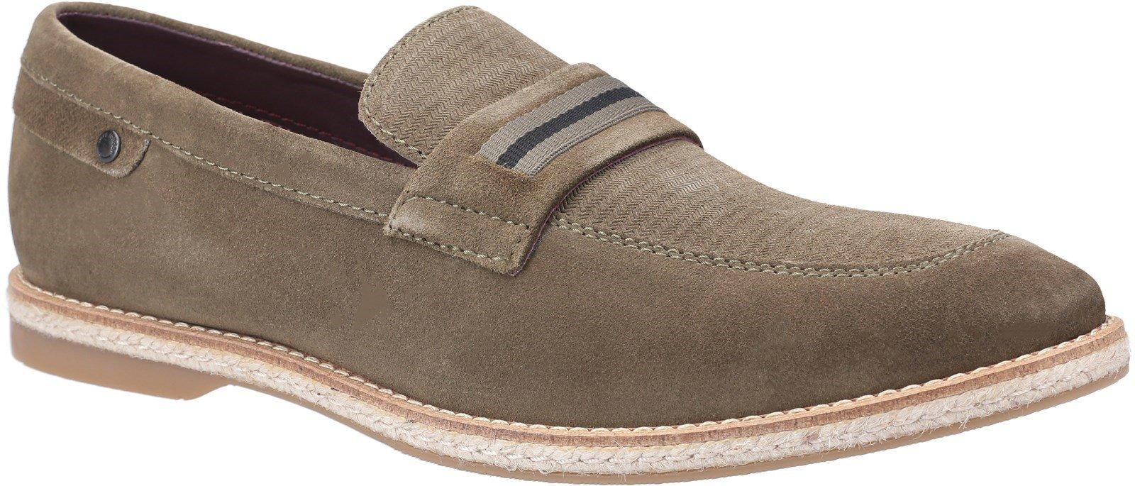 Base London Men's Kinsey Suede Slip On Loafer Various Colours 30444 - Khaki 9