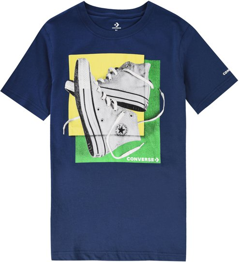 Converse Sneaker Squares T-Shirt, Navy 13-15år