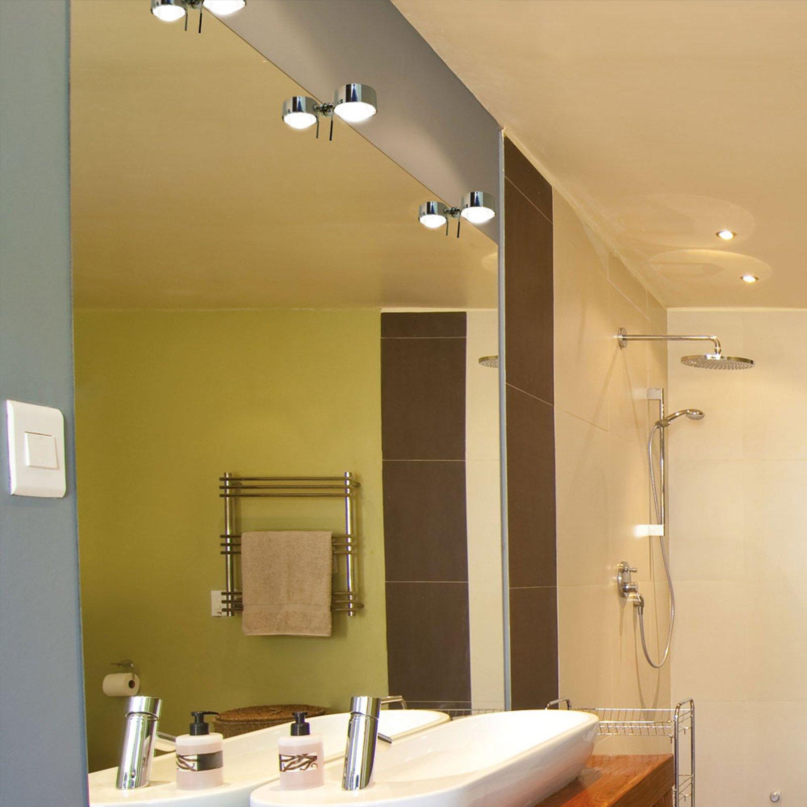 LED-speilklemmelampe Puk Fix+, krom