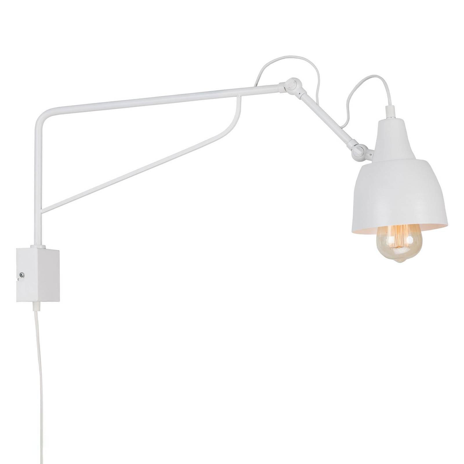 1002 vegglampe med plugg, 1 lyskilde, hvit