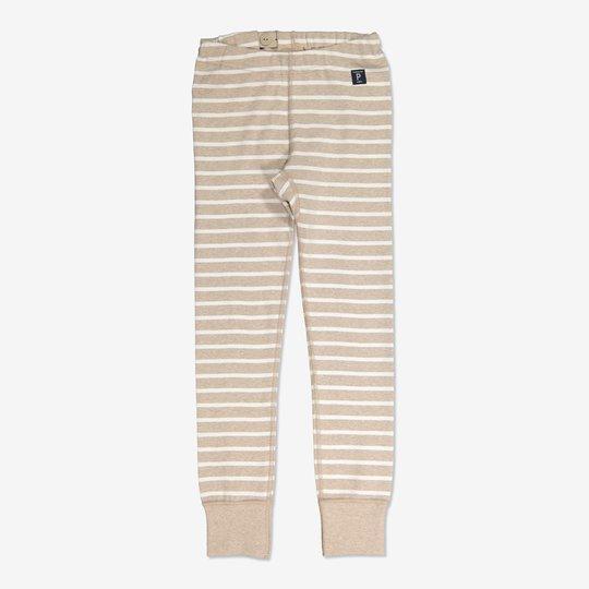 Stripet bukse beige