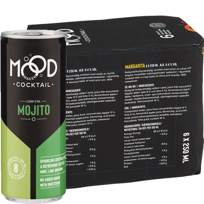 "Dryck Cocktail ""Mojito"" 6 x 250ml - 34% rabatt"
