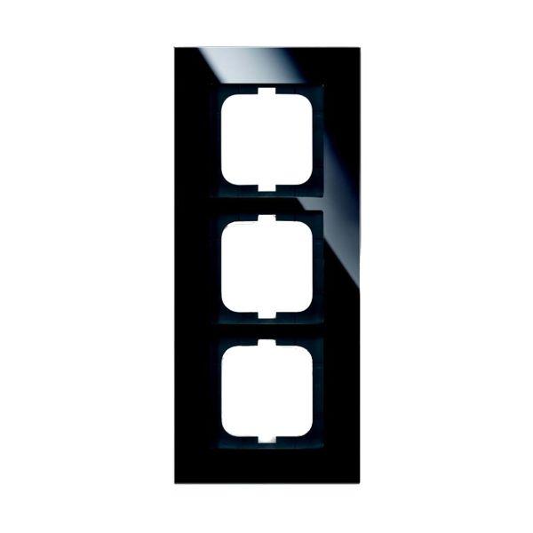 ABB 1723-825 Yhdistelmäkehys musta lasi 3-paikkainen