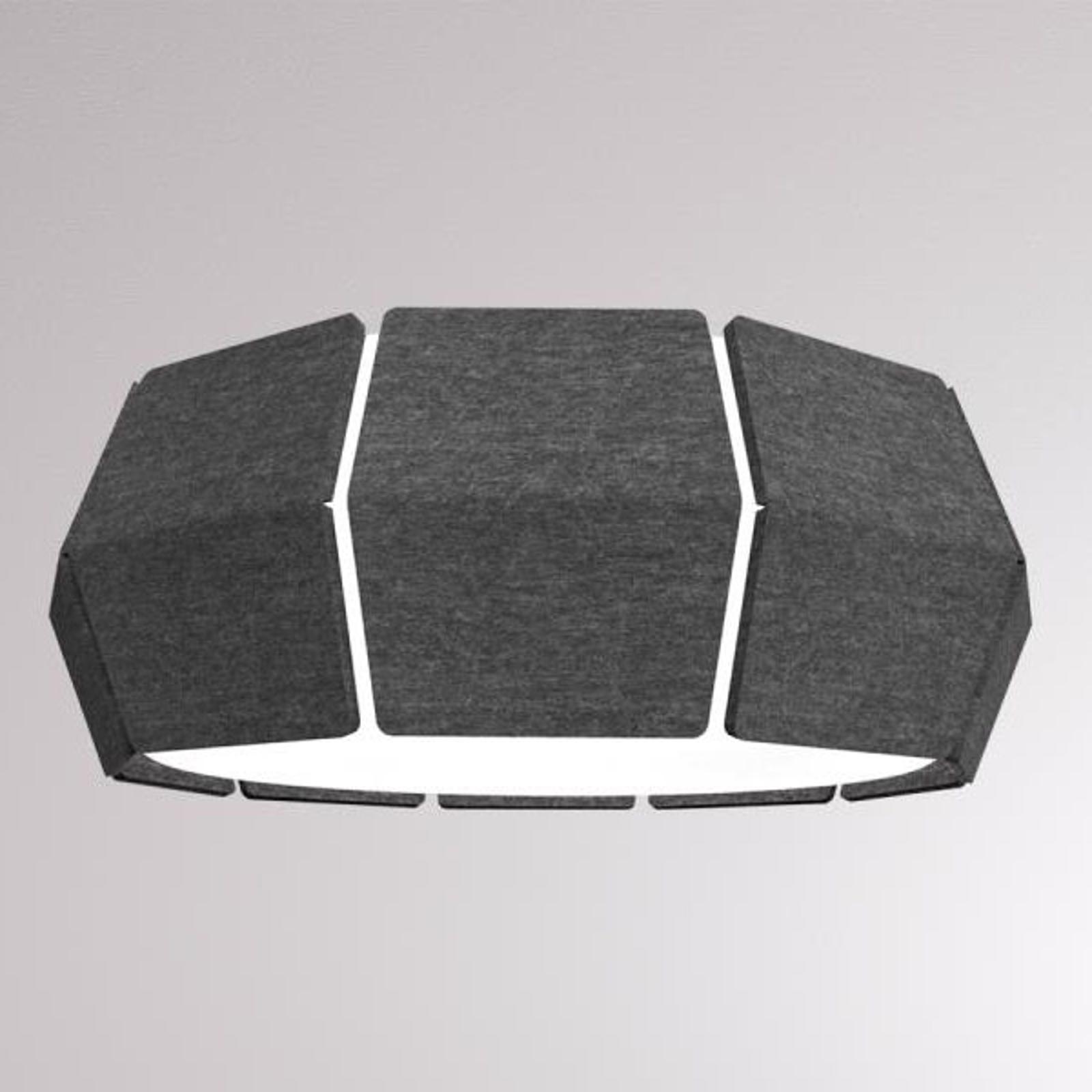 LOUM Decafelt -LED-kattovalaisin Ø 54 cm musta