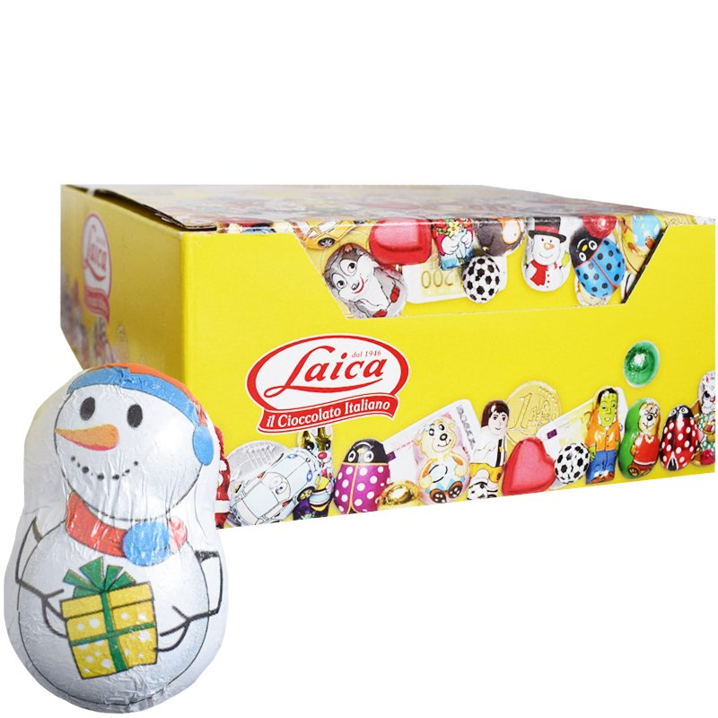 Hel Låda Mjölkchoklad Snögubbar 26 x 90g - 75% rabatt