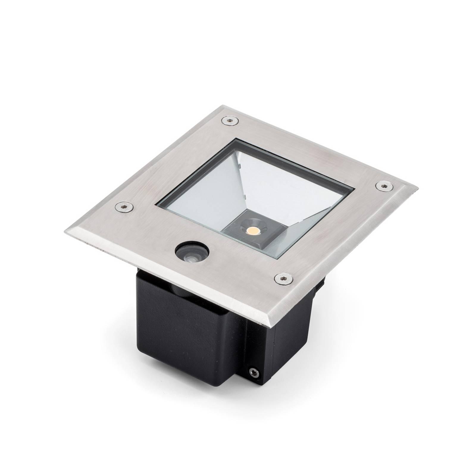 LED-maaspotti Dale 12 W, hämärätunnistin