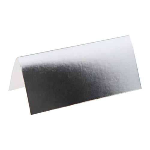 Placeringskort Silvermetallic - 10-pack