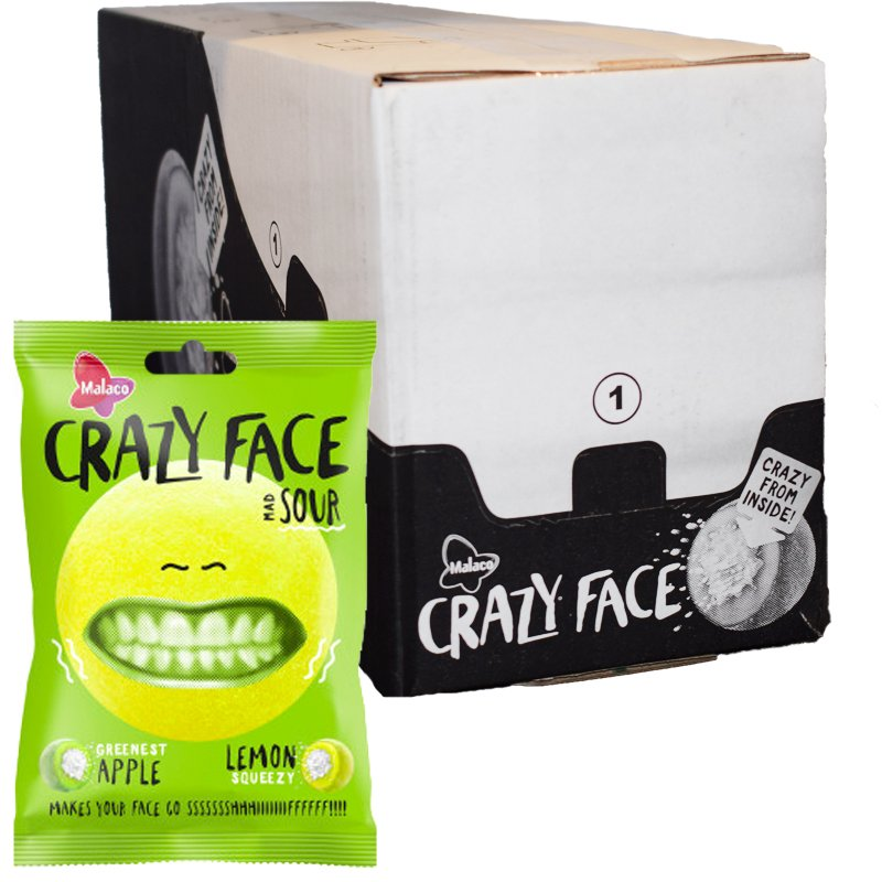 Crazy Face Sour 14-pack - 81% rabatt