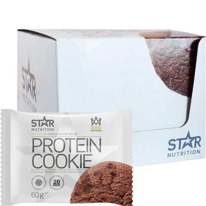 """Laatikollinen Proteiinikeksejä """"Chocolate Chip Cookie"""" 12 x 60g - 35% alennus"""