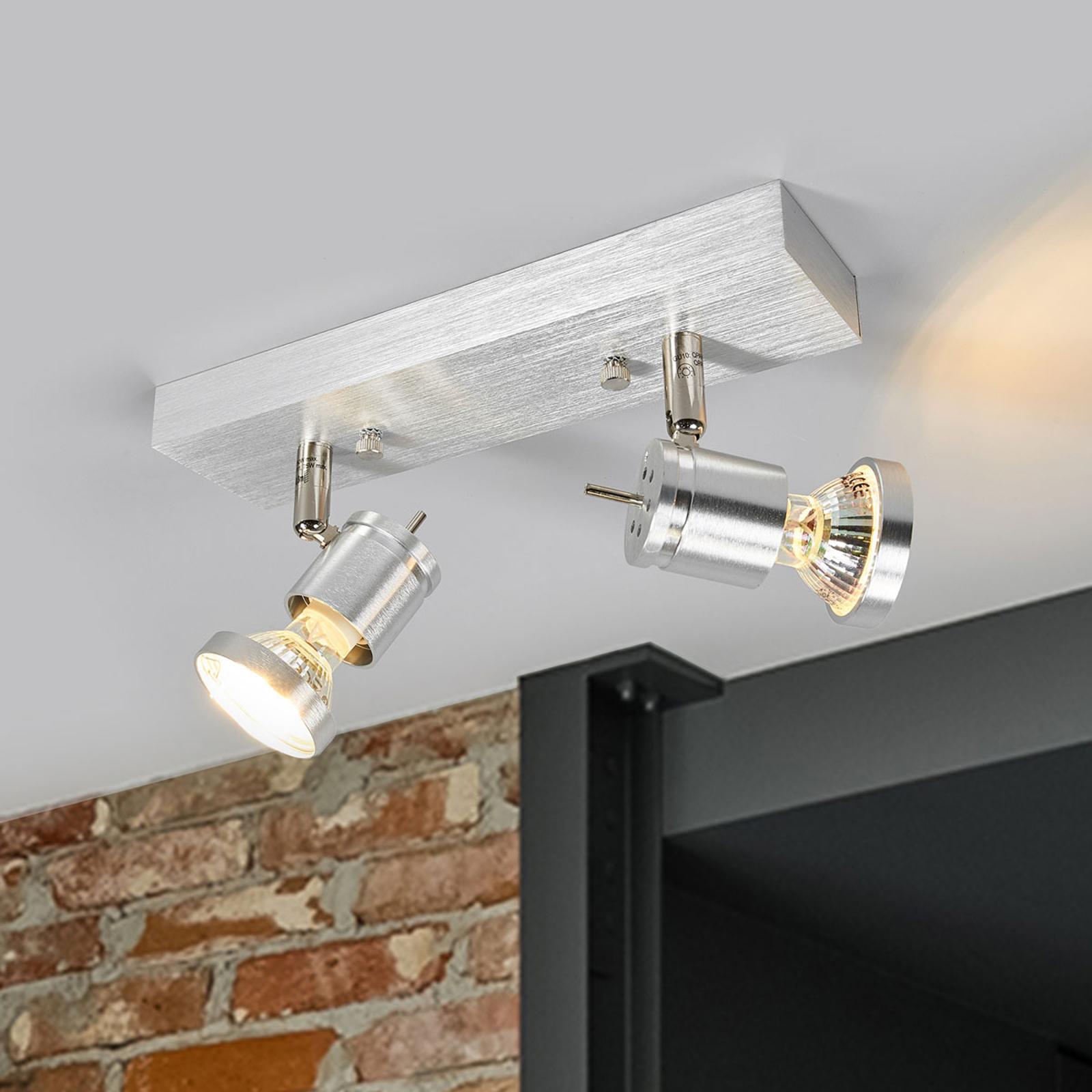 Asto 2-lamppuinen kattospotti koristerenkaalla