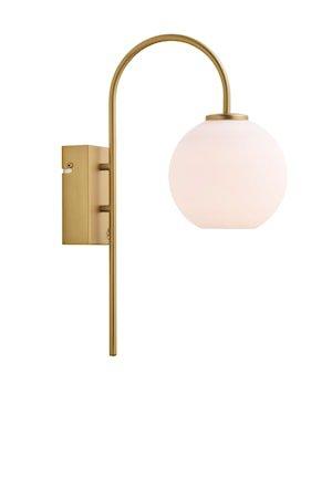 Ballon Vegglampe Sateng Messing LED