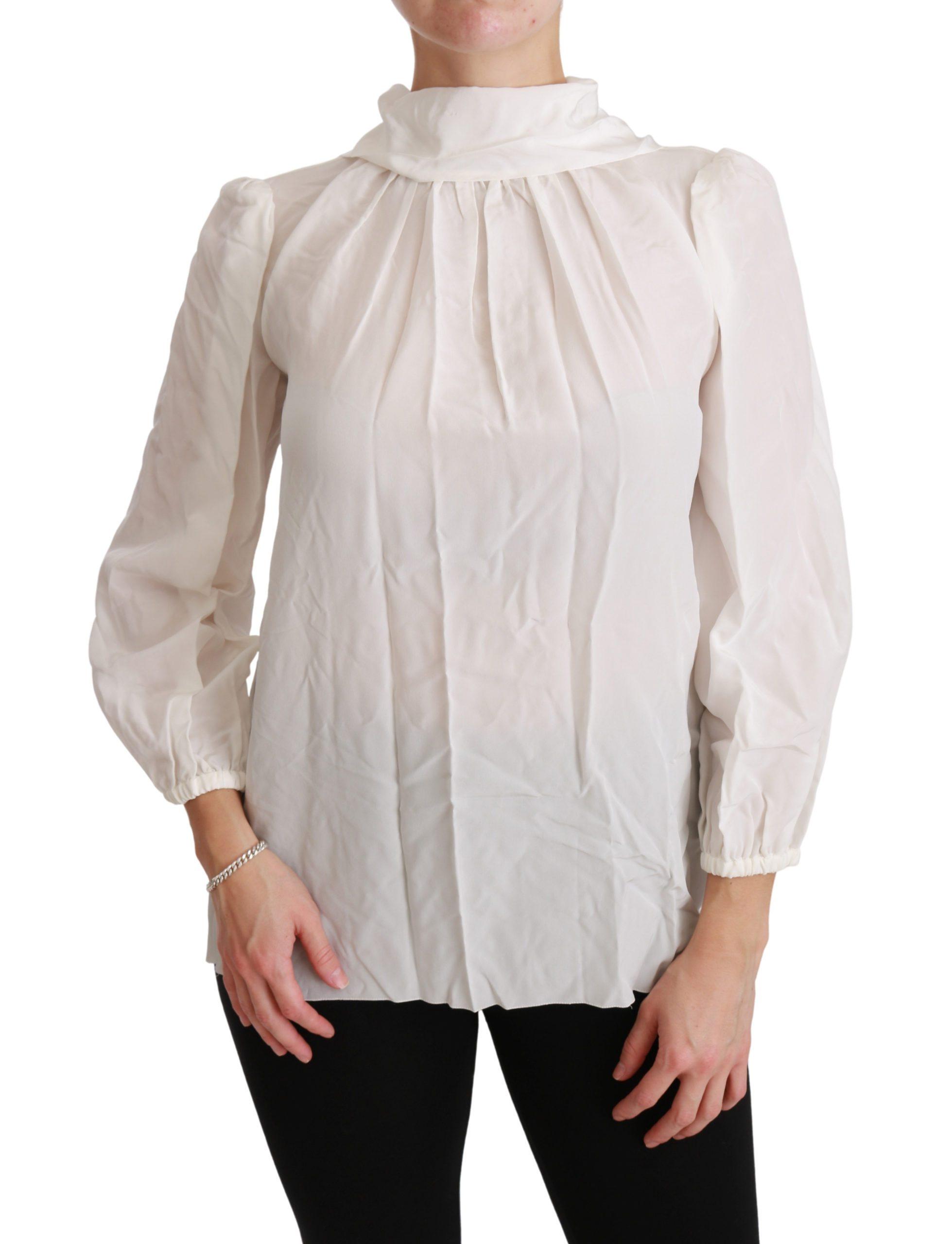 Dolce & Gabbana Women's Turtle Neck Top White TSH4402 - IT38|XS