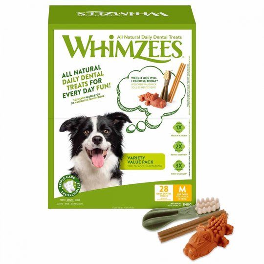 Whimzees Variety Value Box M 28-pack