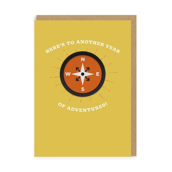Compass Another Year of Adventure Woven Patch Card