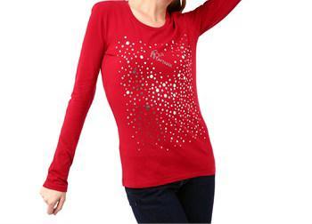 Montana Blu Women's Rosso T-Shirt Red MO1235213 - IT40 | XS