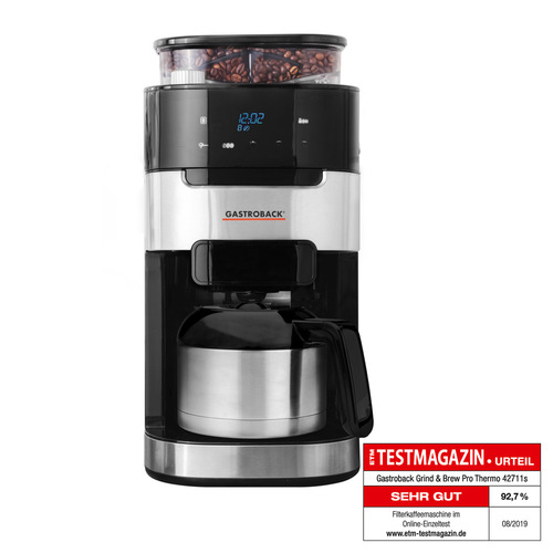 Gastroback 42711s Termo Kaffebryggare - Svart/silver