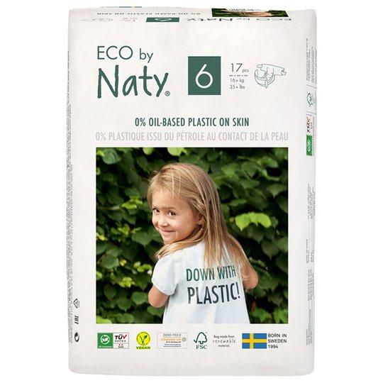 Naty Miljövänliga Blöjor - Storlek 6 (16+ kg), 17 st