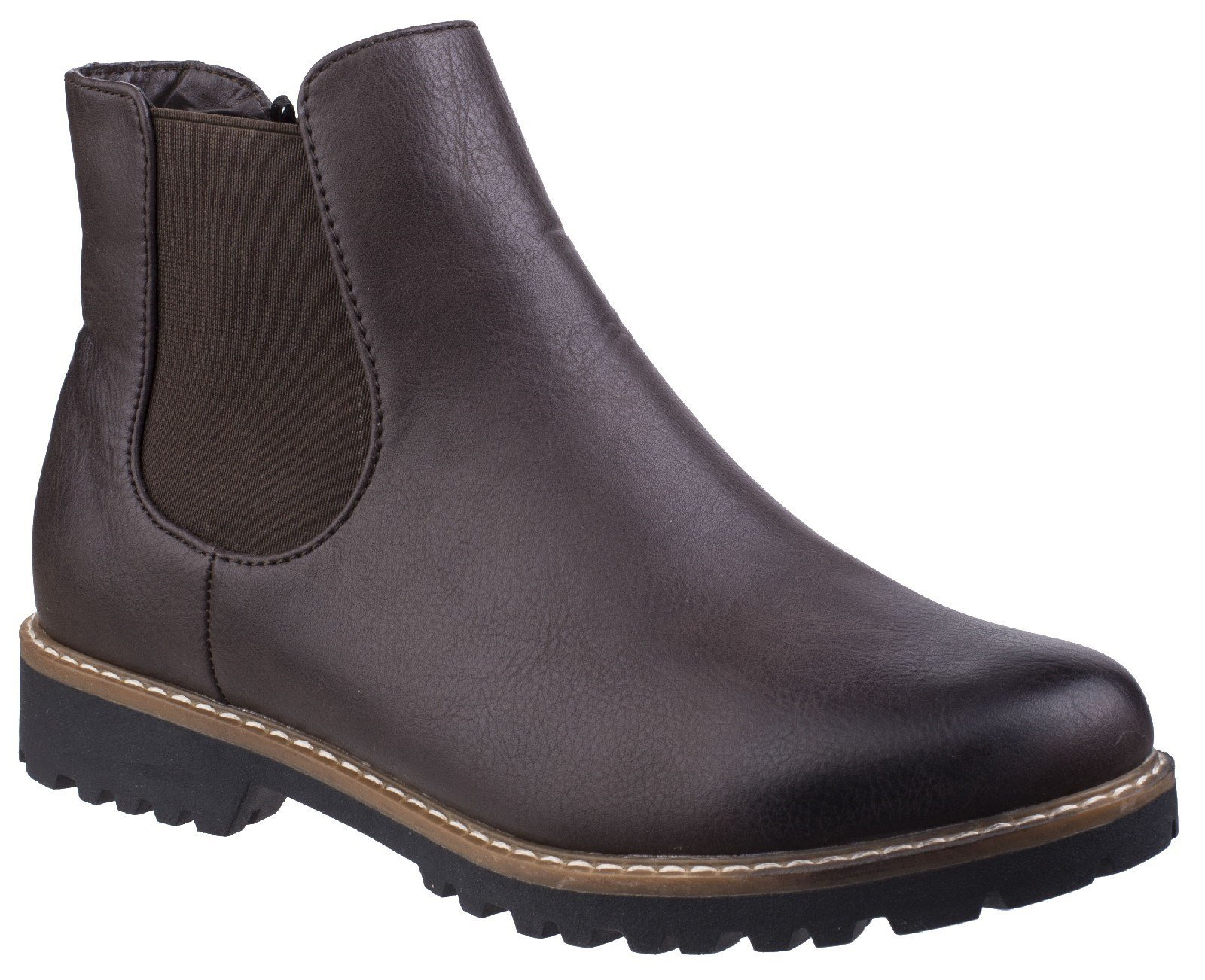 Divaz Women's Grace Ladies Chelsea Boot Black 25571-42565 - Brown 3