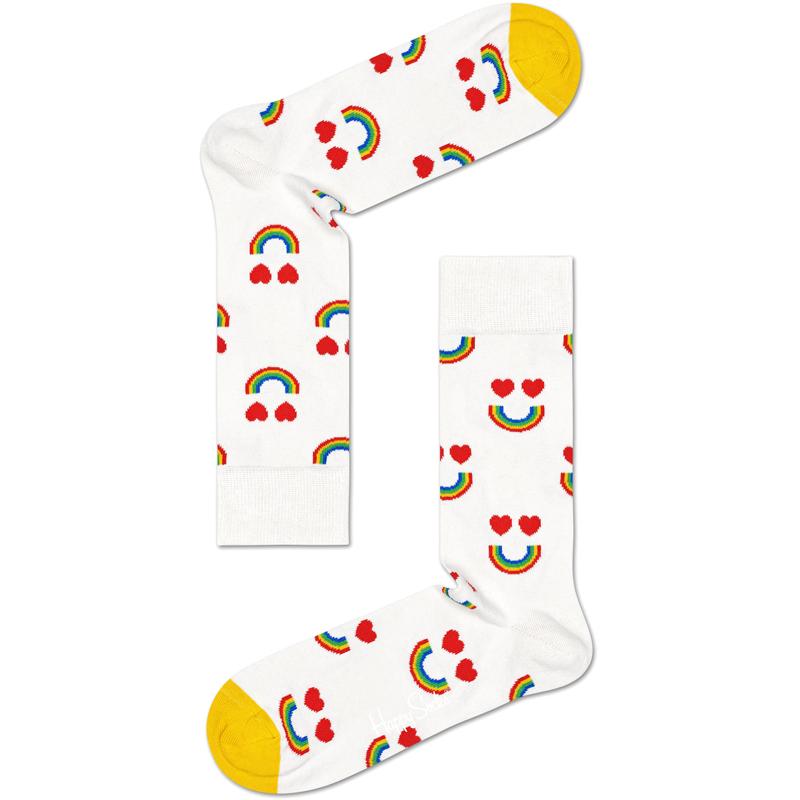 Happy Rainbow Sock Vit Stl 41-46 - 40% rabatt