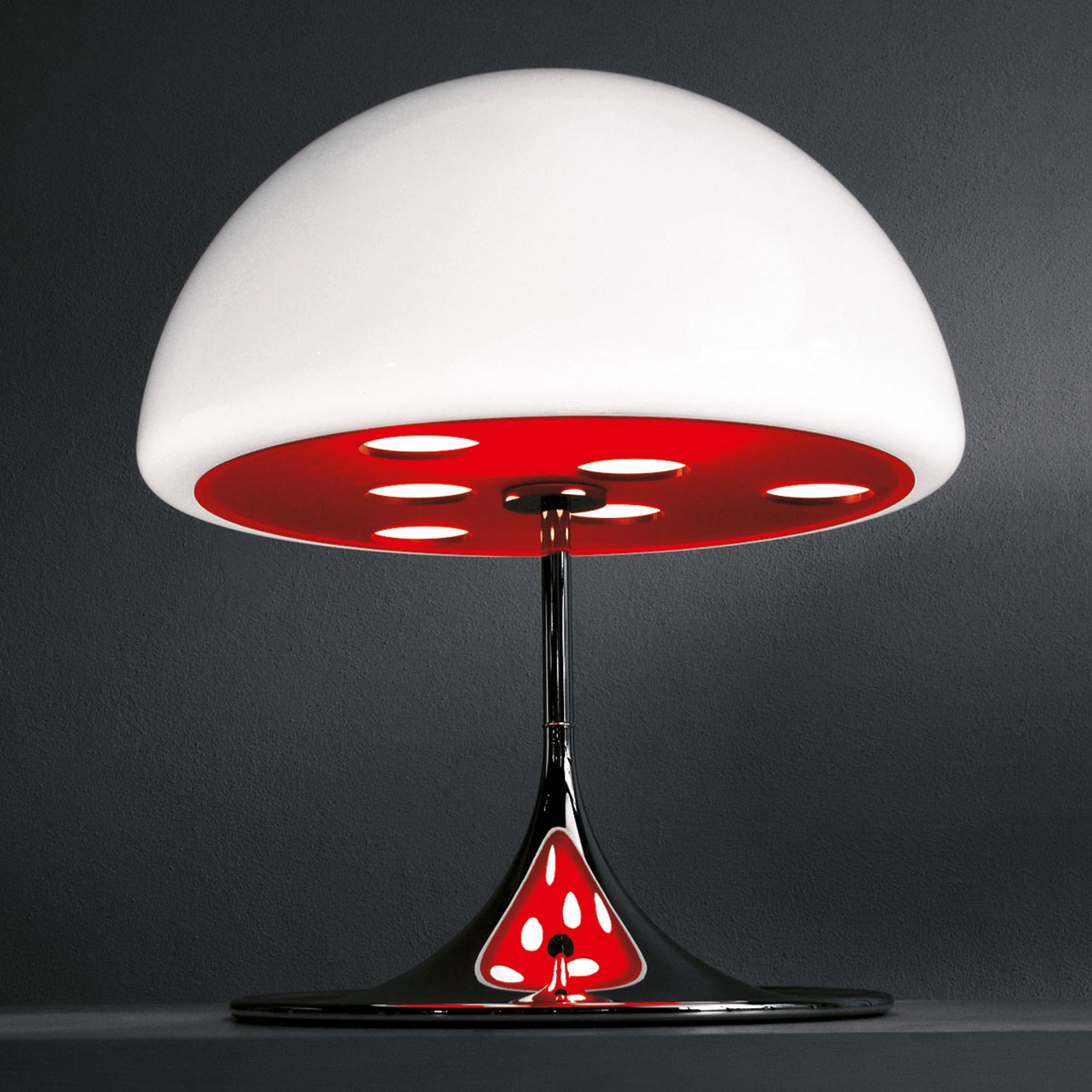Martinelli Luce Mico -pöytävalaisin 60 cm punainen