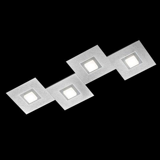 GROSSMANN Karree -kattolamppu 4-lamp. 80x30cm tit