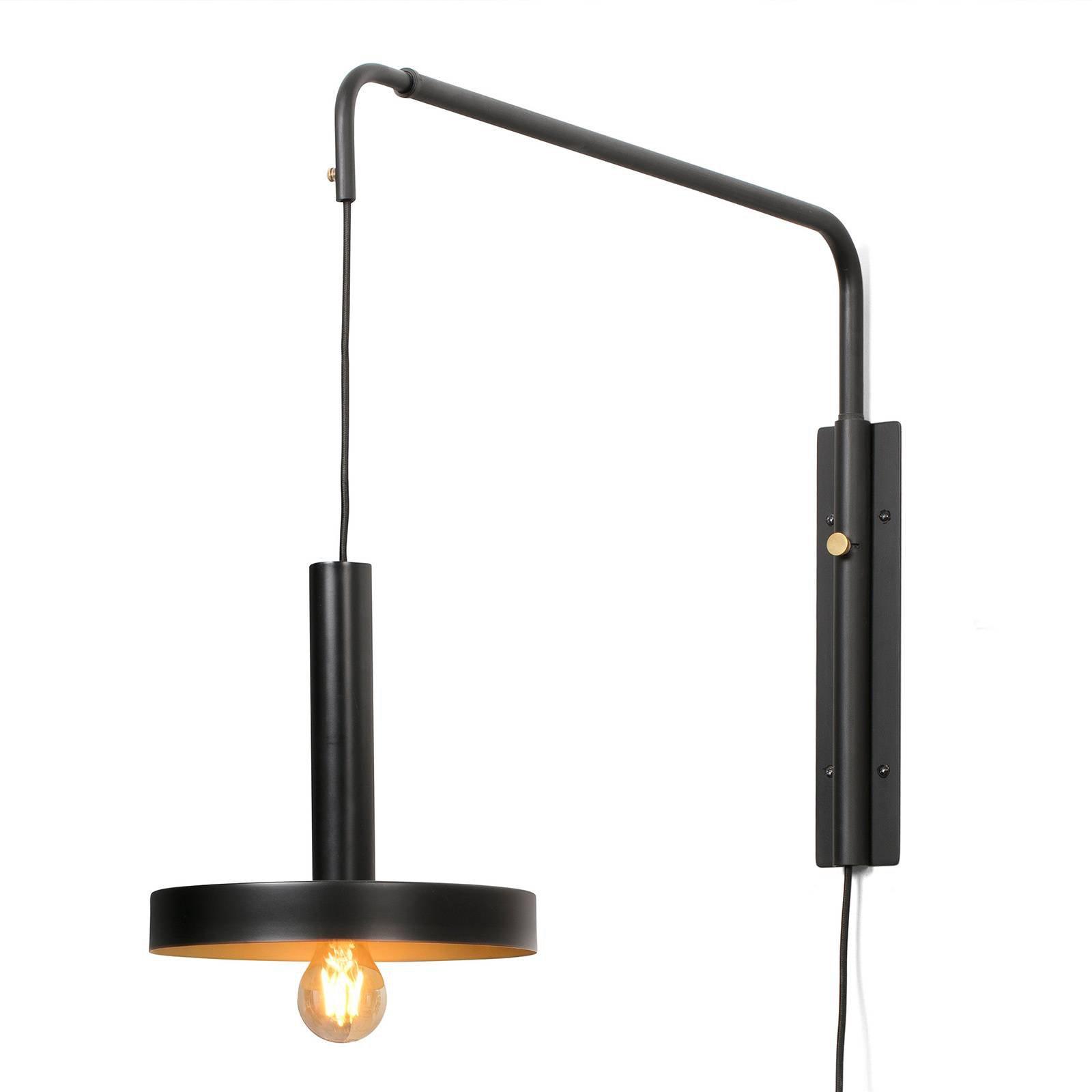Vegglampe Whizz, svart