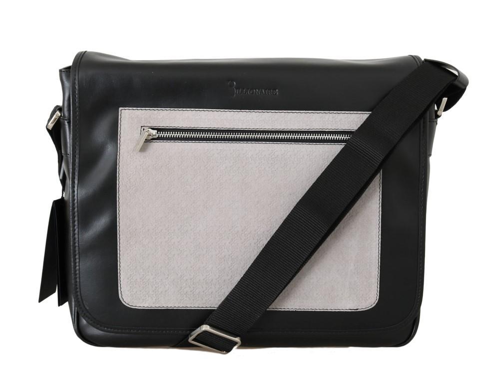 Billionaire Italian Couture Men's Leather Messenger Shoulder Bag Multicolour VAS1422