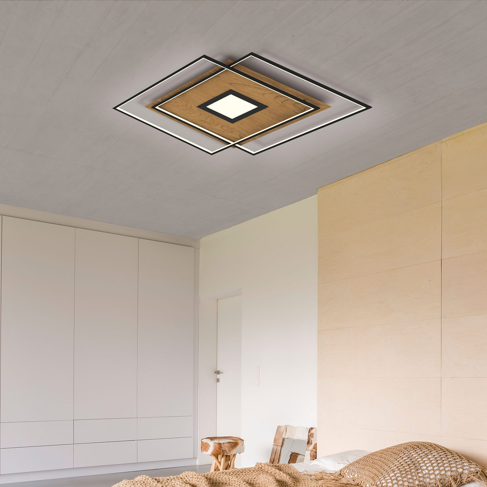 Paul Neuhaus Q-AMIRA LED-taklampe tredeko