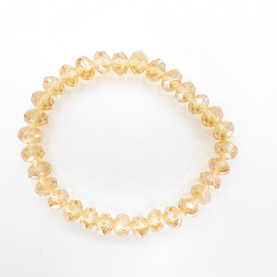 Armband i kristall - Guld