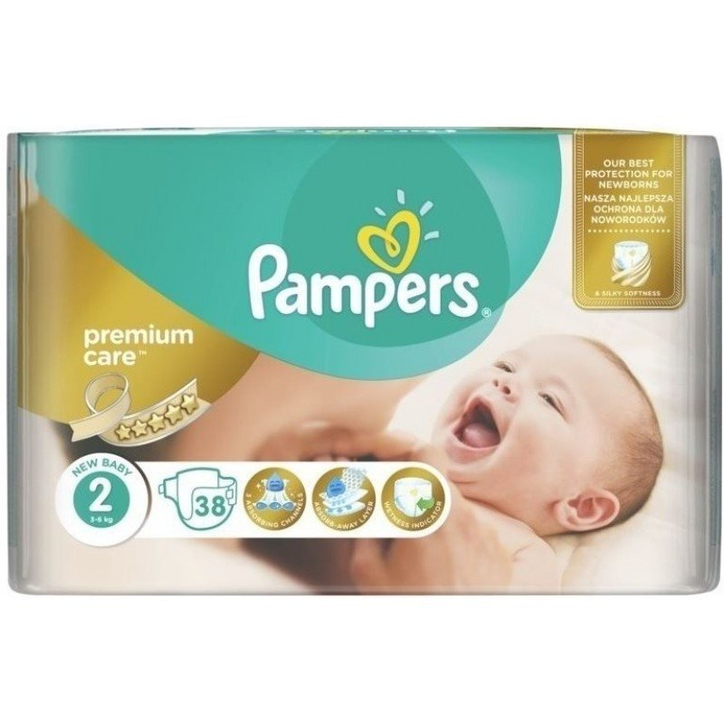 Pampers - Premium Care Nappies Size 2 38 Pcs
