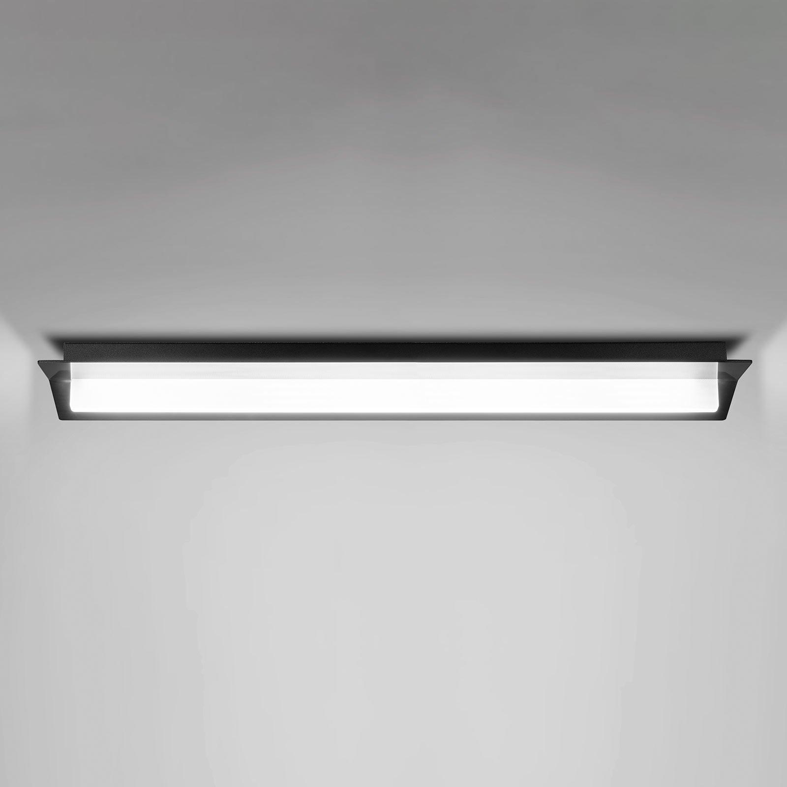 Flurry LED-taklampe, 70 cm, svart