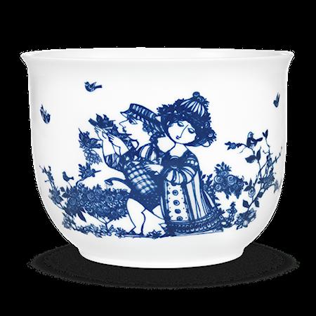 Krukke, Rosengarden, blå, H12 cm