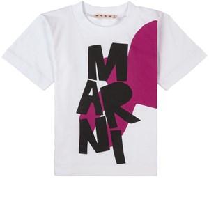 Marni Abstract Leaf Branded T-shirt Vit 10 år