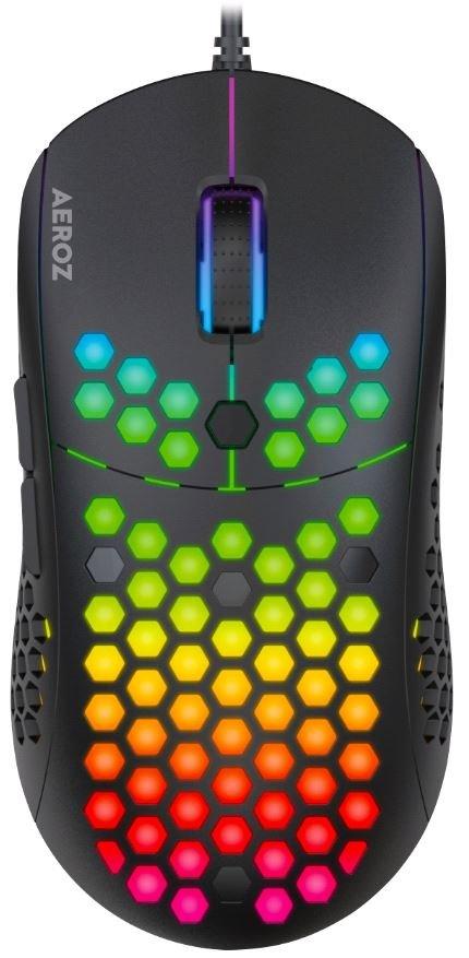 AEROZ - GM-1000 BLACK RGB LIGHTWEIGHT GAMING MOUSE