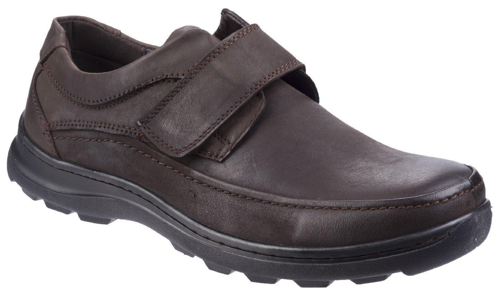 Fleet & Foster Men's Hurghada Fastening Shoe Various Colours 26314-43923 - Brown 7