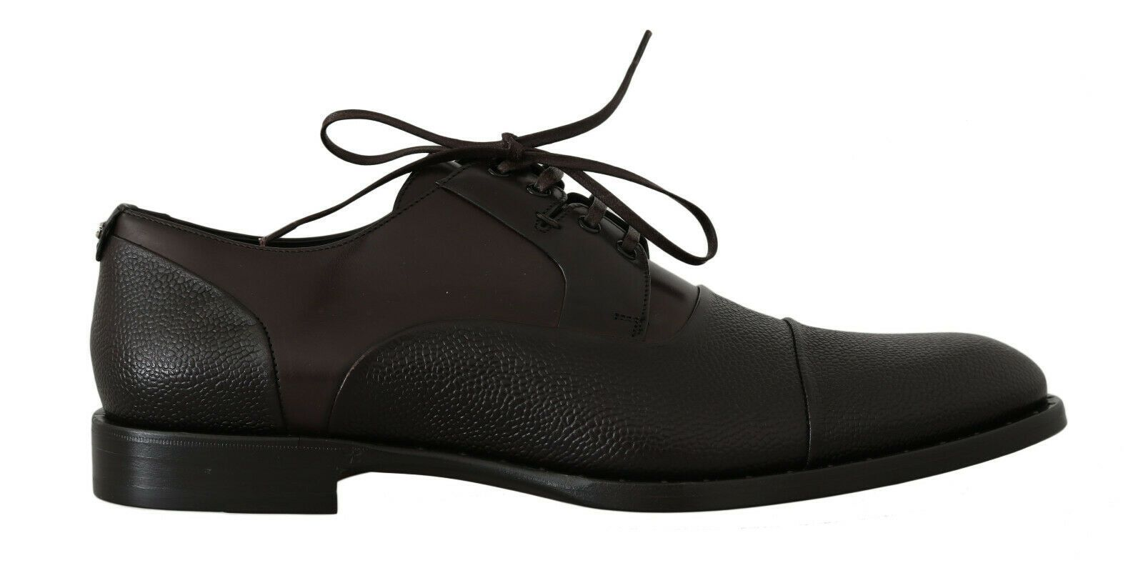 Dolce & Gabbana Men's Leather Laceups Derby Shoes Brown MV2279 - EU39/US6
