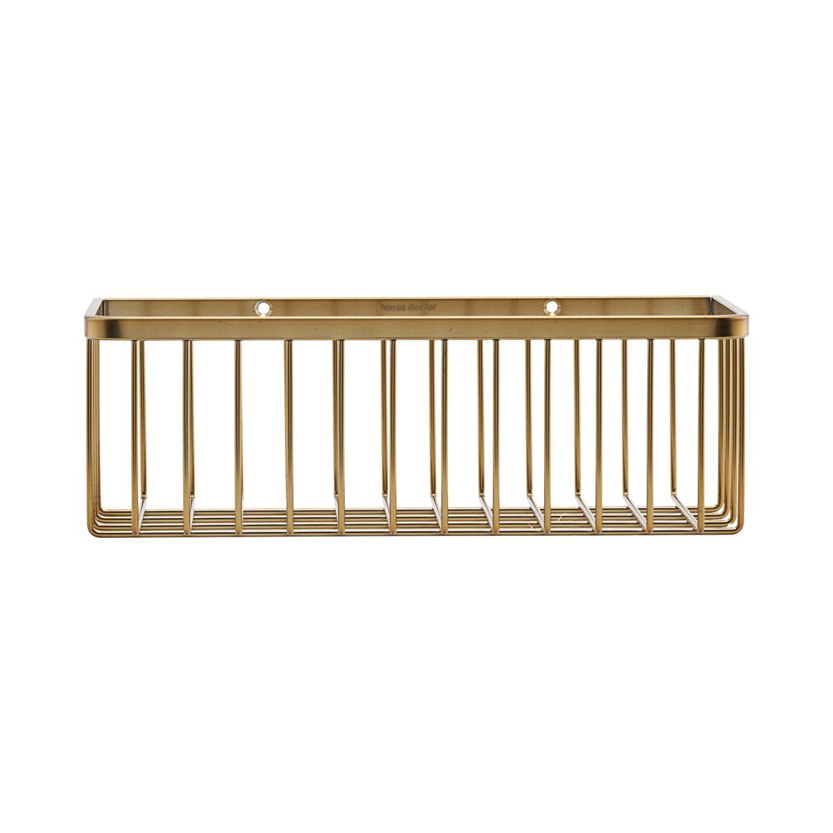 House Doctor - Bath Basket Small - Brass (WG0320)