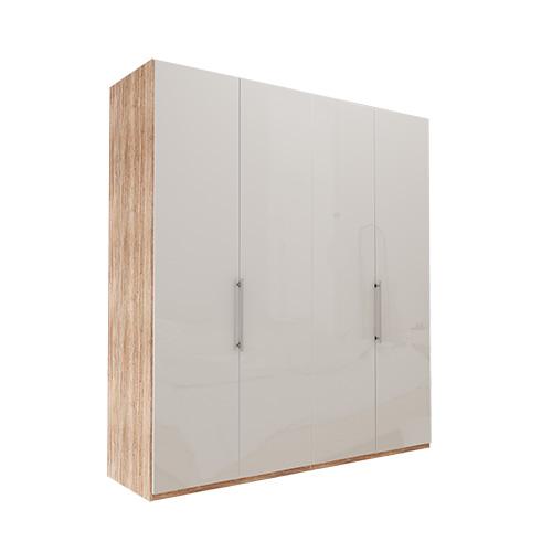Garderobe Atlanta - Lys rustikk eik 200 cm, 236 cm, Uten gesims / ramme