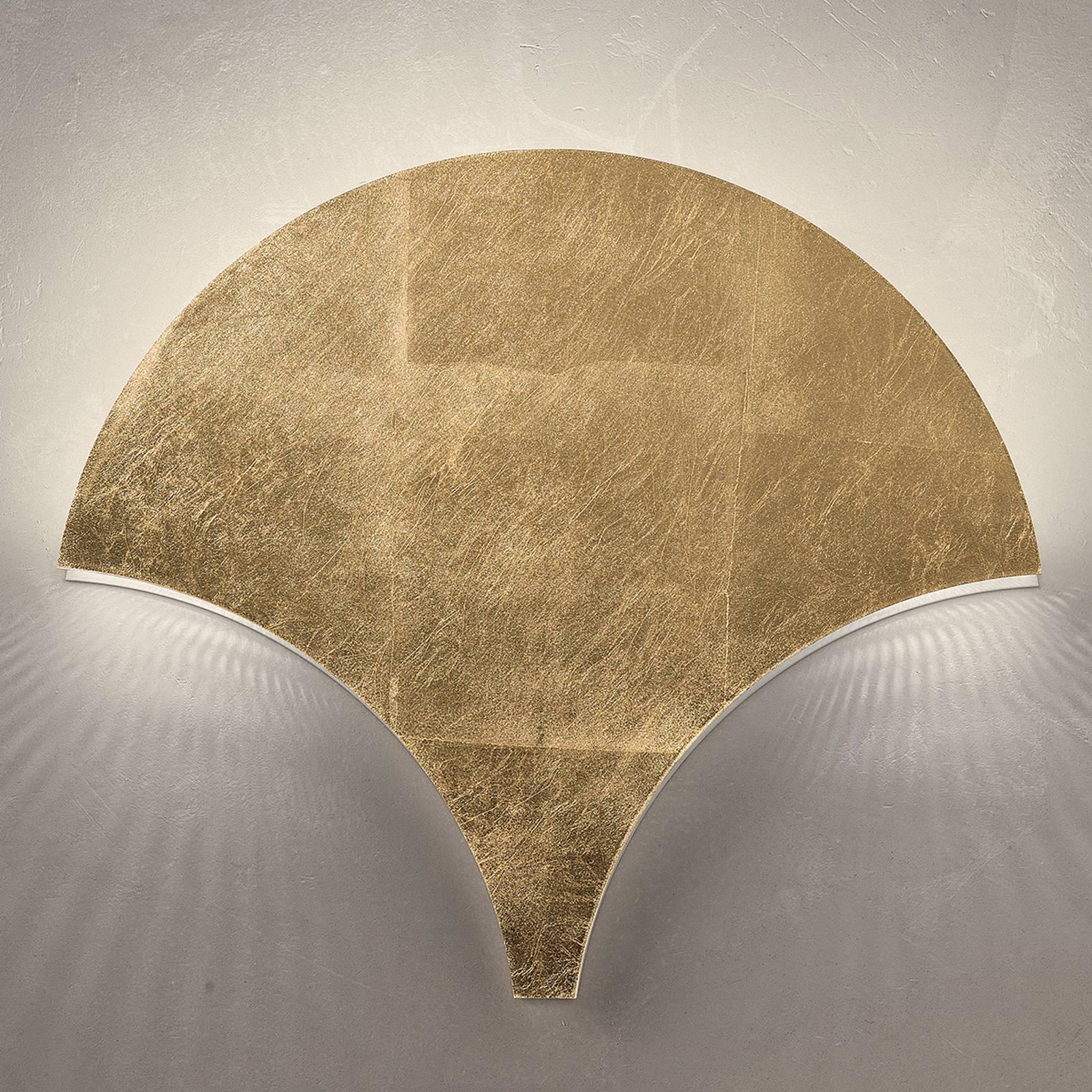Ainutlaatuinen LED-seinävalaisin Palm, kulta