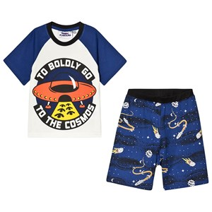Fabric Flavours Out of This World To Boldly Go Pyjamas Vit/Marinblå 3-4 years