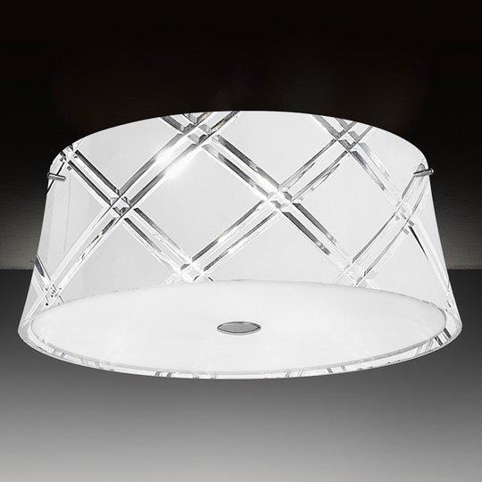 Valkoinen kattovalaisin Corallo 40, 2 lamppua