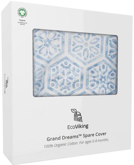 EcoViking Organic Babynest Cover Mediterranean Blue