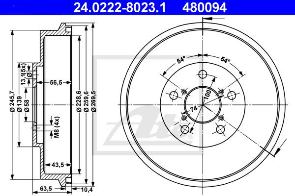 Jarrurumpu ATE 24.0222-8023.1