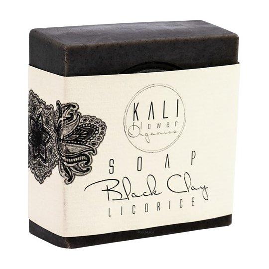 KaliFlower Organics Ekologisk Handgjord Tvål - Svart lera & Lakrits, ca. 120 g