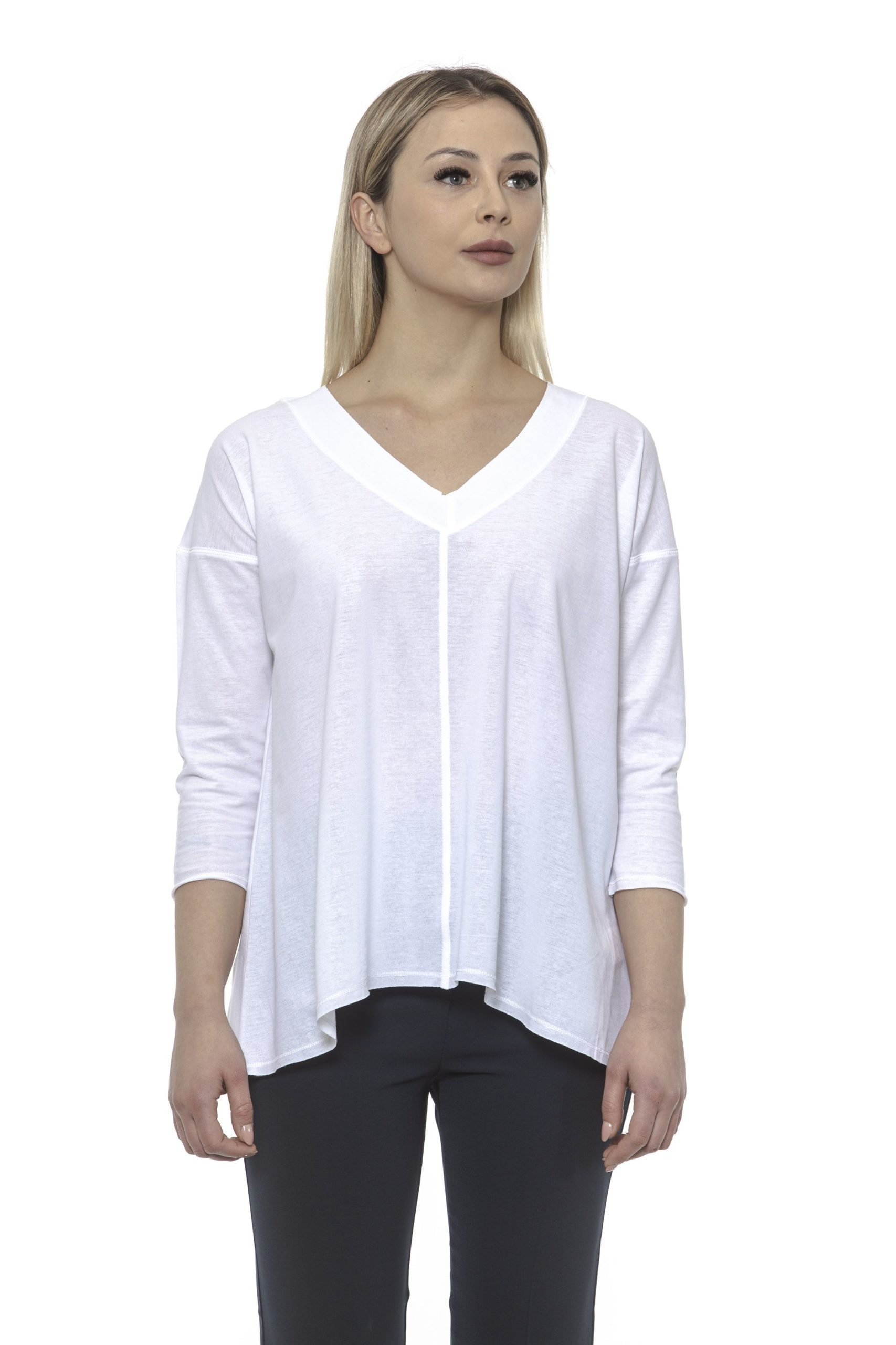 Alpha Studio Women's Bianco Sweater White AL1374997 - IT40   XS
