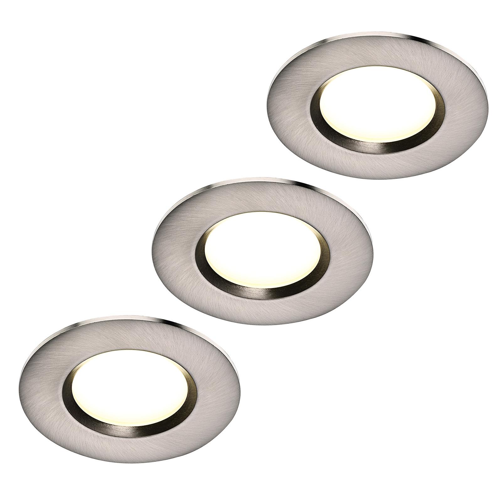 LED-uppovalaisin Clarkson 3 kpl, pyöreä, teräs