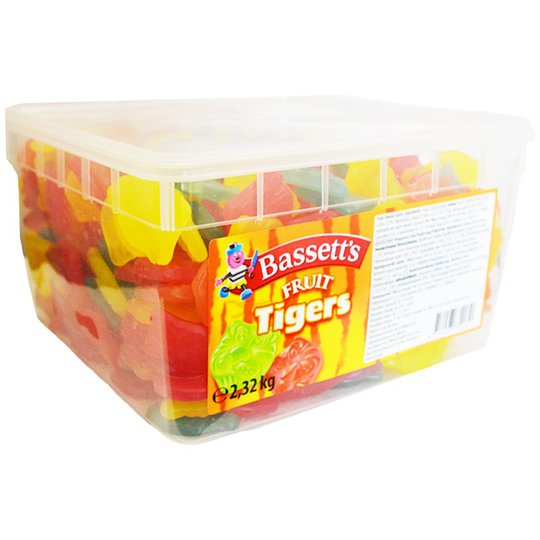 "Laatikollinen makeisia ""Fruit Tigers"" 2,32 kg - 58% alennus"