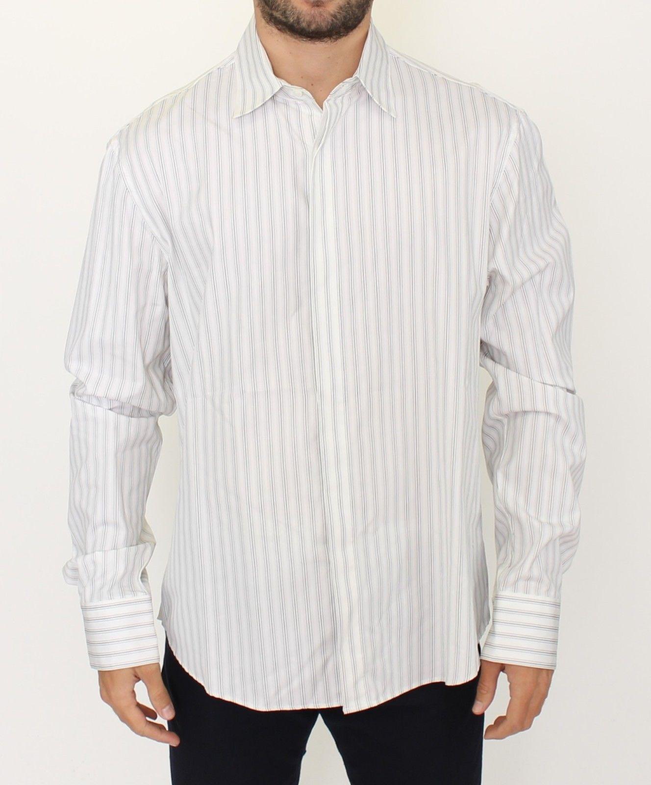 Ermanno Scervino Men's Regular Fit Shirt White SIG10177 - IT54   XL