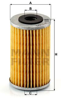 Öljynsuodatin MANN-FILTER H 715/1 n