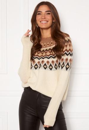 ONLY Amber Jaquard Pullover Beaver Fur /Ginger R XL